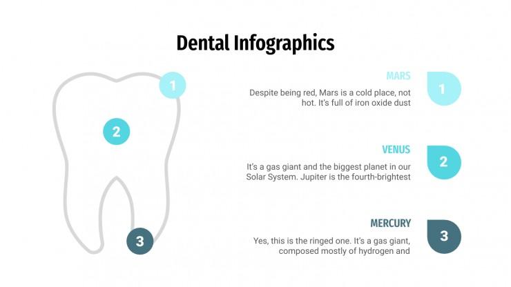Plantilla de presentación Infografía dental