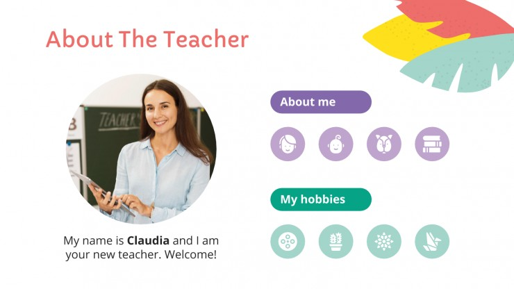 Modelo de apresentação Pacote para sala de aula