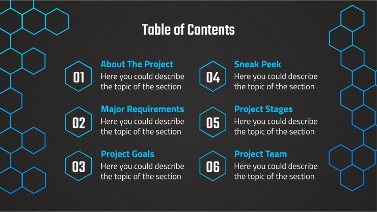 Honeycomb Project Proposal presentation template