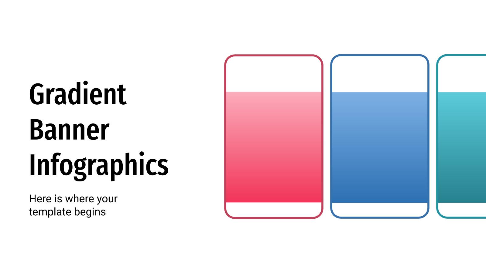 Plantilla de presentación Infografía de banner gradiente