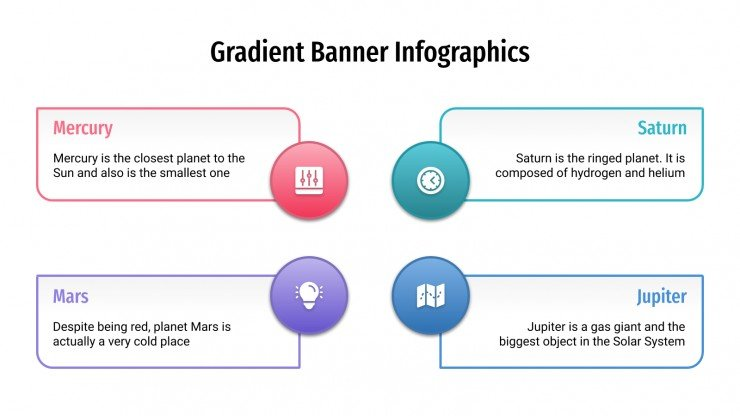 Gradient banner infographics presentation template