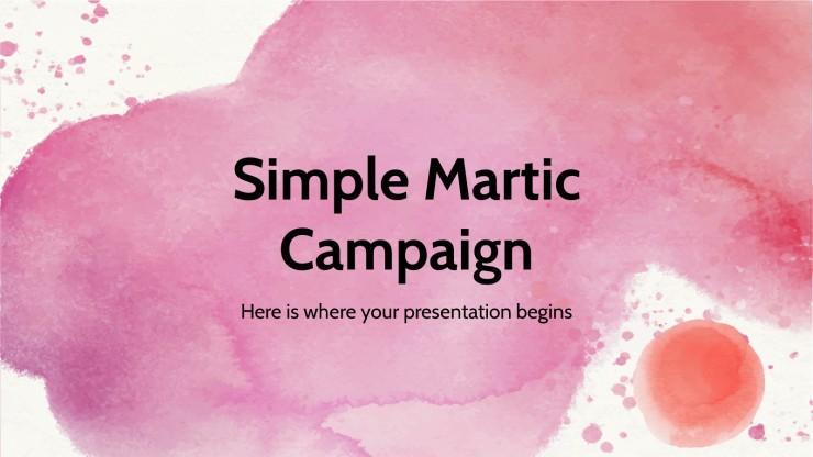 Plantilla de presentación Campaña simple Martic