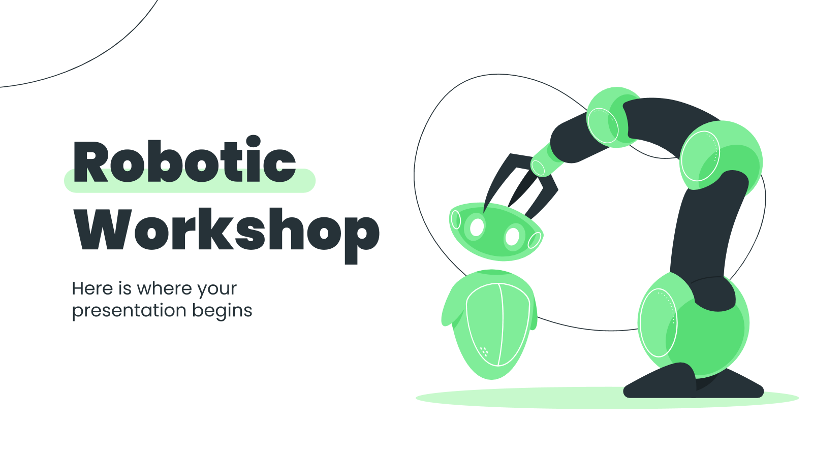 Robotic workshop presentation template