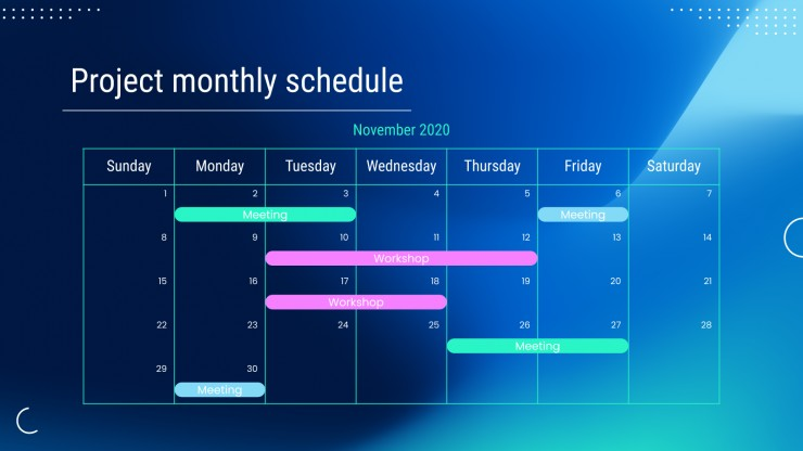College Schedules presentation template