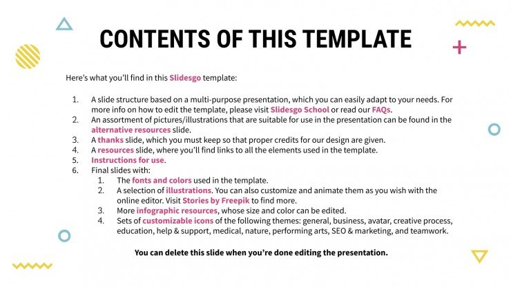 Innel Memphis daily activities presentation template