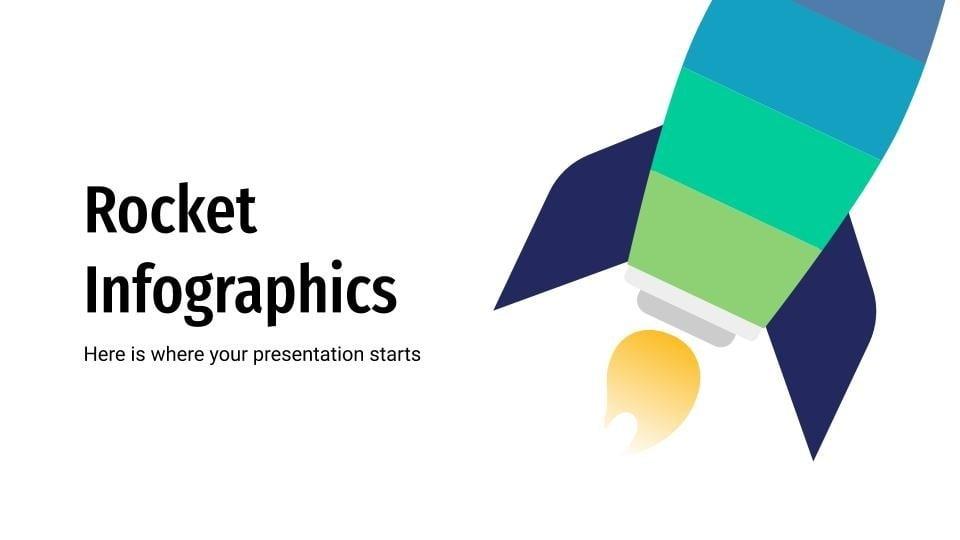 Raketen-Infografik Präsentationsvorlage
