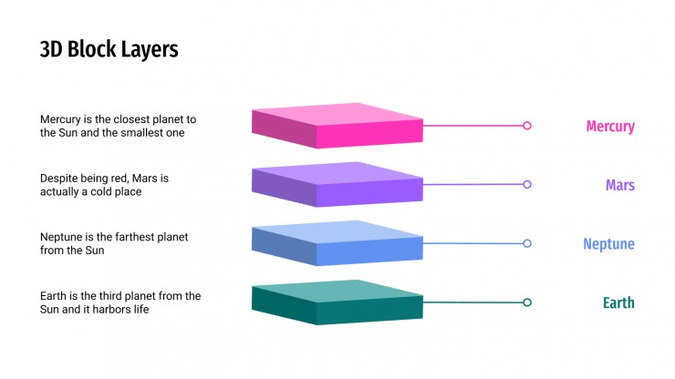 Free 3d Block Layers Diagrams For Google Slides Ppt Template