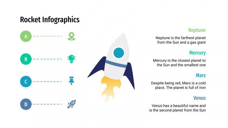 Plantilla de presentación Infografías de cohetes