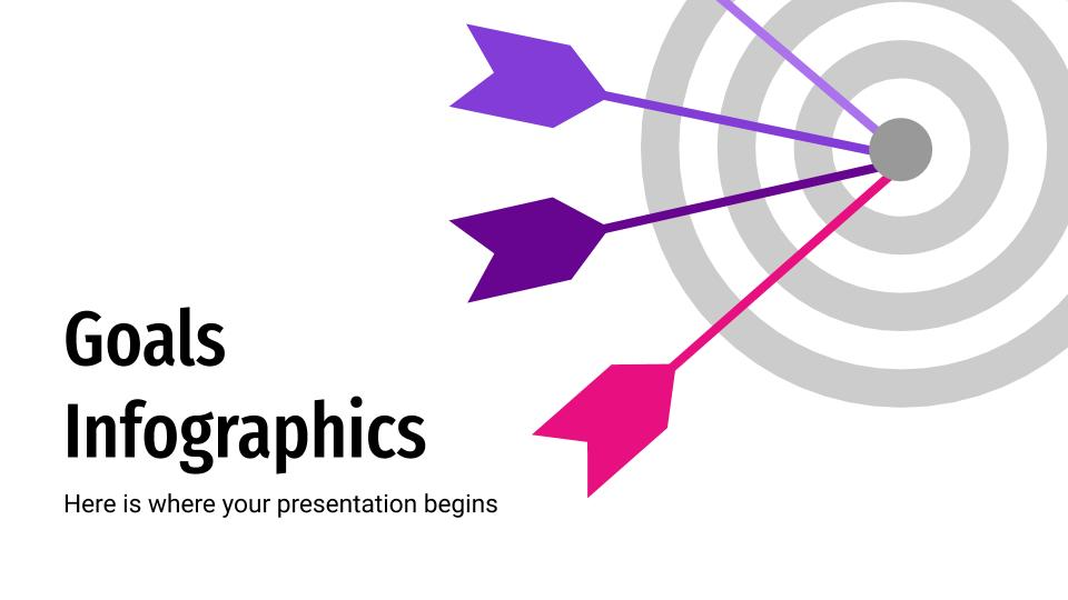Goals Infographics presentation template
