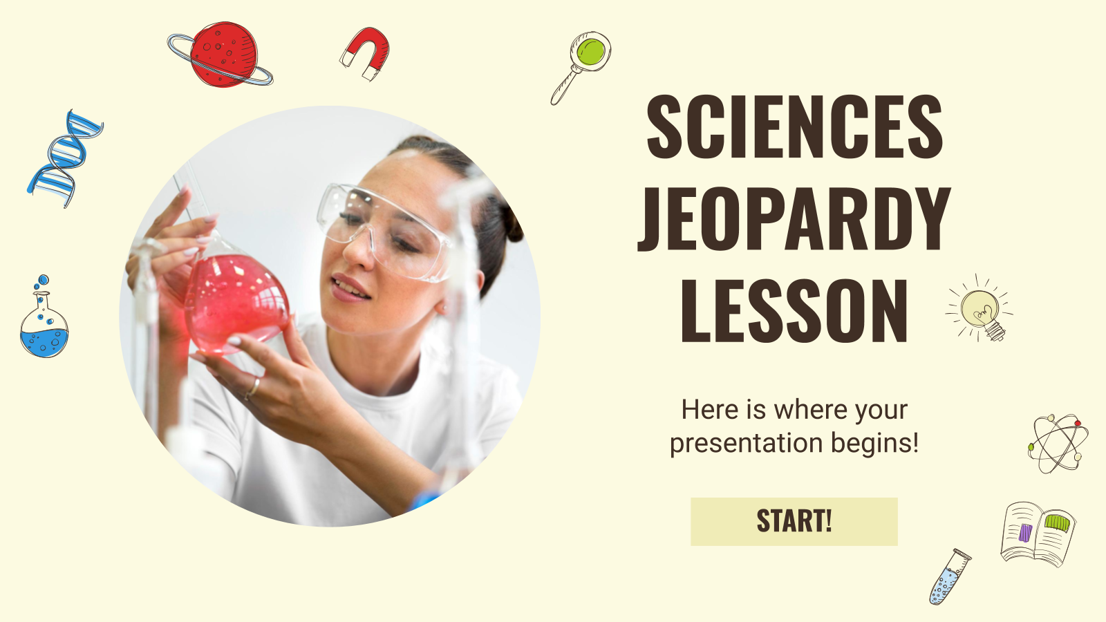 Sciences Jeopardy Lesson presentation template