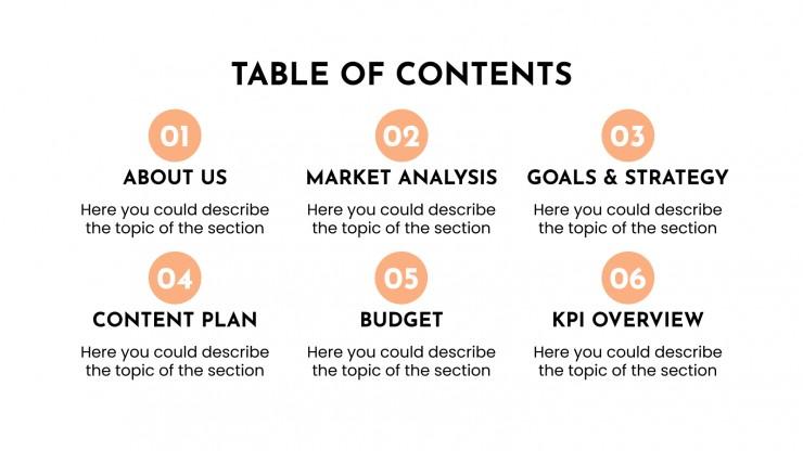 Moovia social media strategy presentation template