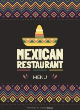 Mexican restaurant menu (A4) presentation template