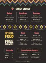 Menu de restaurant mexicain (A4) : Modèles de présentation
