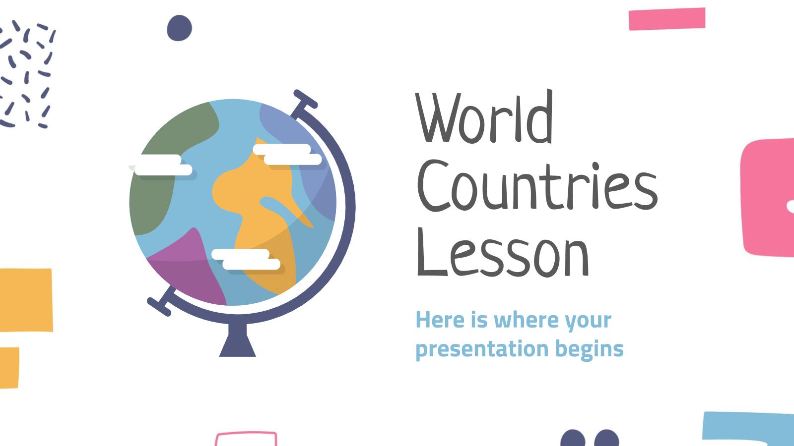 Cours sur les pays du monde : Modèles de présentation