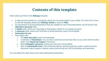 Branding Consulting presentation template
