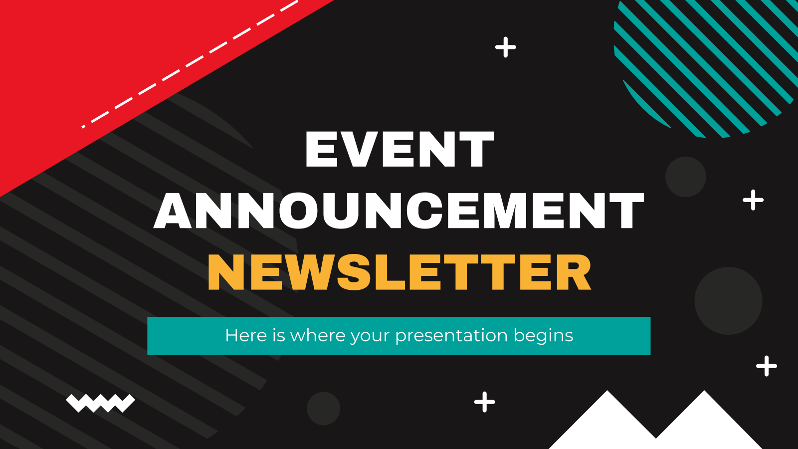 Event Announcement Newsletter presentation template