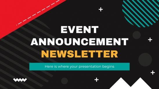 Plantilla de presentación Newsletter para anunciar eventos