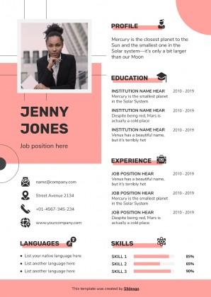 CV Donna (A4) : Modèles de présentation