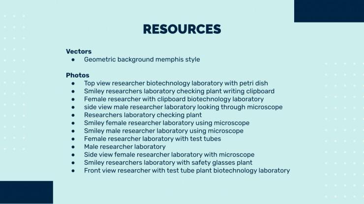 Wissenschaft & Biologie Zentrum Präsentationsvorlage