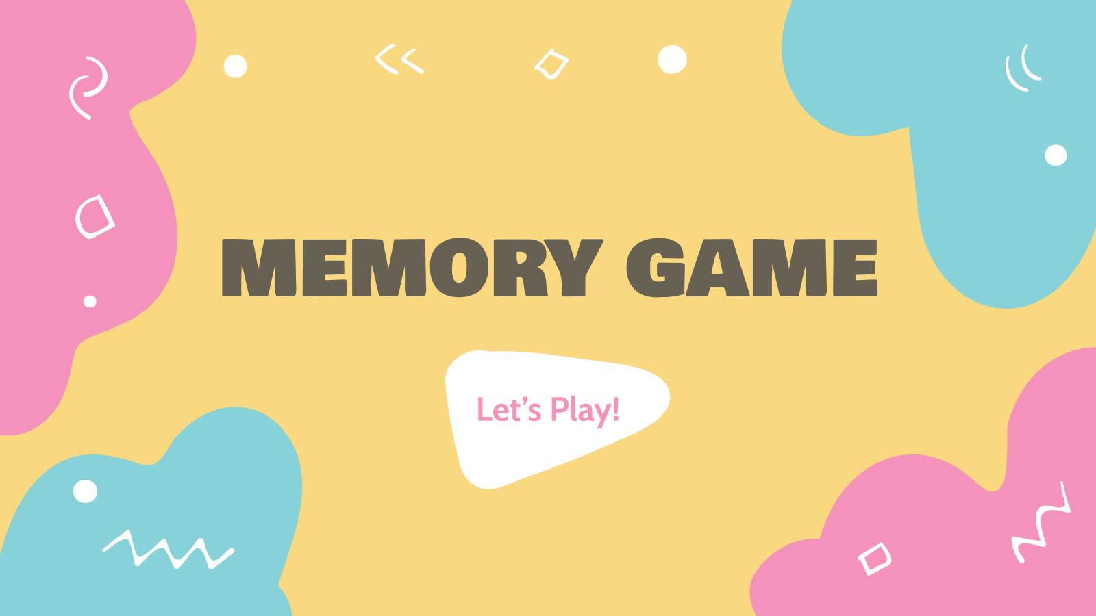 Memory Game presentation template