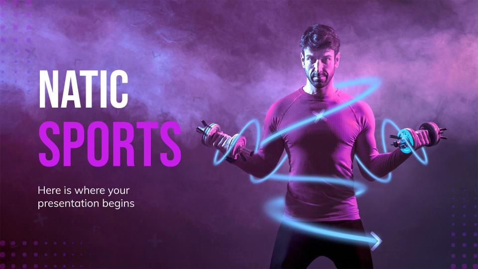 Natic Sports Marketing Plan presentation template