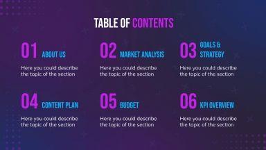 Plantilla de presentación Plan de marketing Natic Sports
