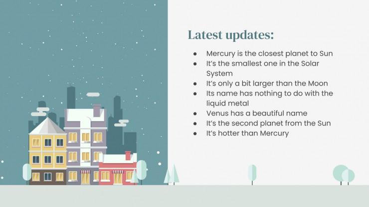 Winter Updates Board presentation template