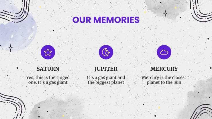 Plantilla de presentación Recuerdos del año