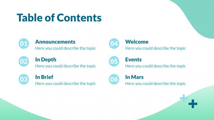 Modelo de apresentação Newsletter médica