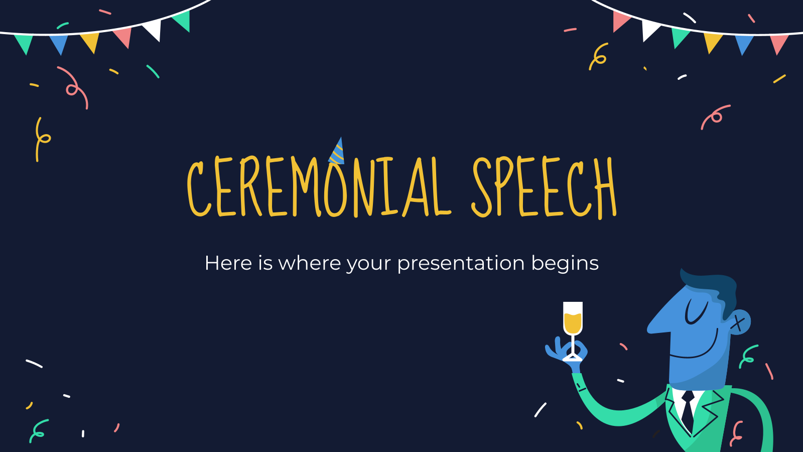 Ceremonial Speech presentation template