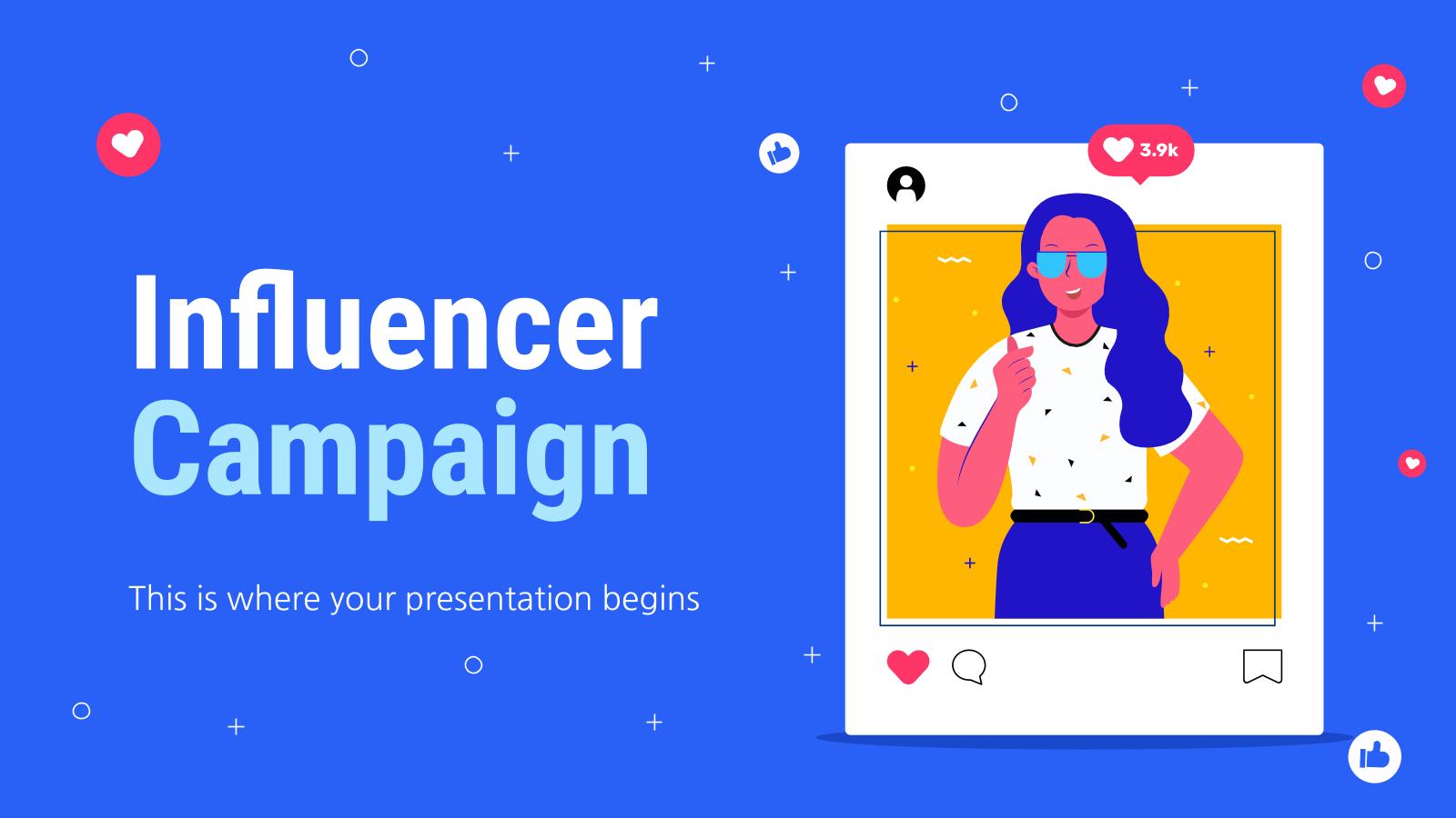 Plantilla de presentación Campaña con influencers