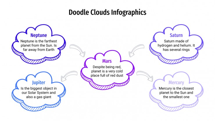 Doodle Clouds infographics presentation template