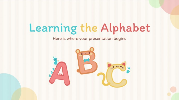Learning the Alphabet presentation template