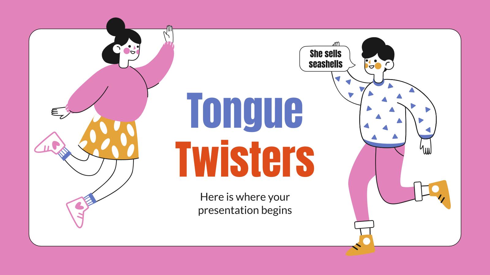 Modelo de apresentação Trava-línguas