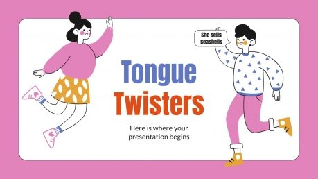 Tongue Twisters presentation template