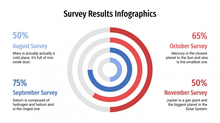 Survey Results Infographics presentation template