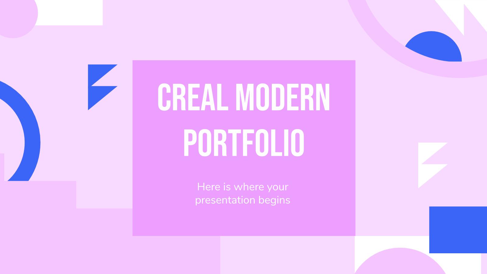 Modelo de apresentação Portfólio moderno Creal