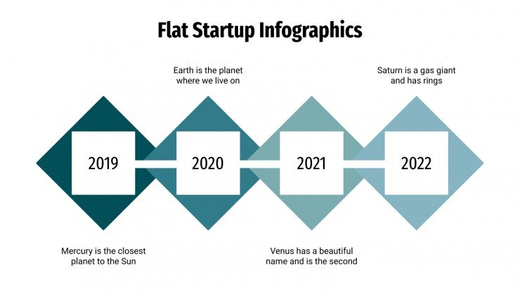 Plantilla de presentación Infografías flat para startups