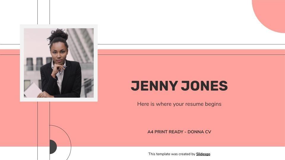 Donna CV presentation template