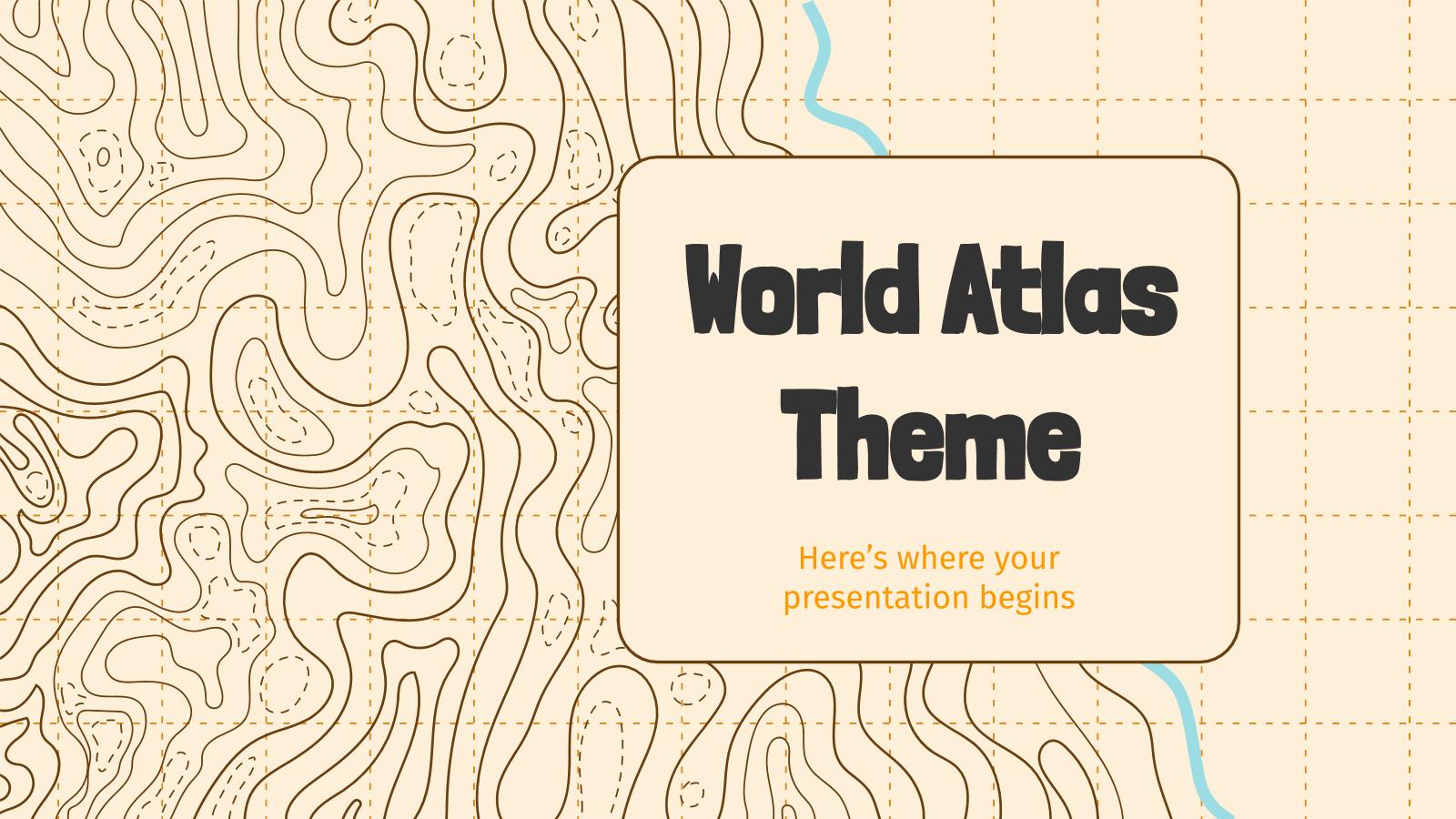 Plantilla de presentación Atlas mundial
