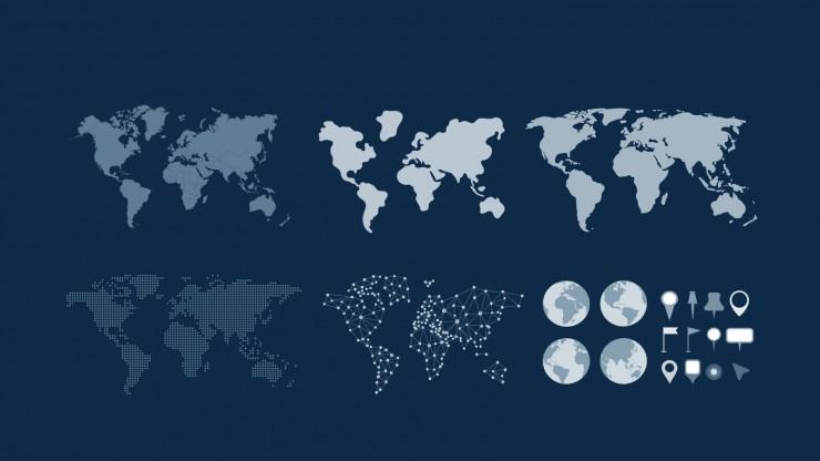 Modelo de apresentação Atlas do mundo