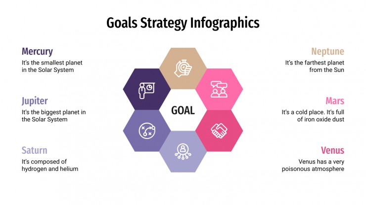 Goals Strategy Infographics presentation template