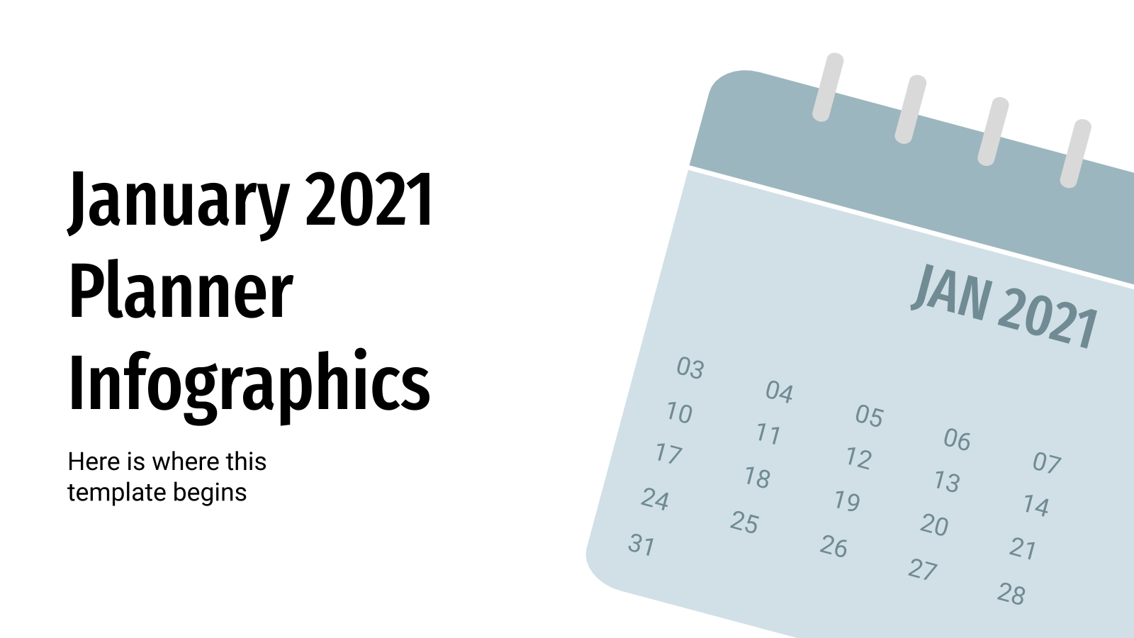 January 2021 Planner Infographics presentation template