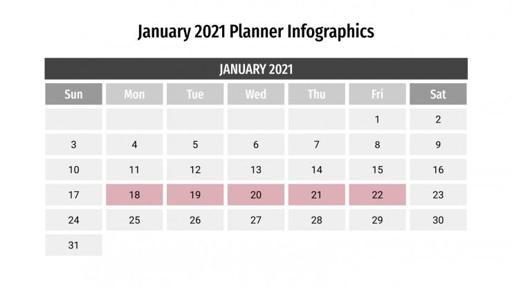 January 2021 Planner Infographics presentation template