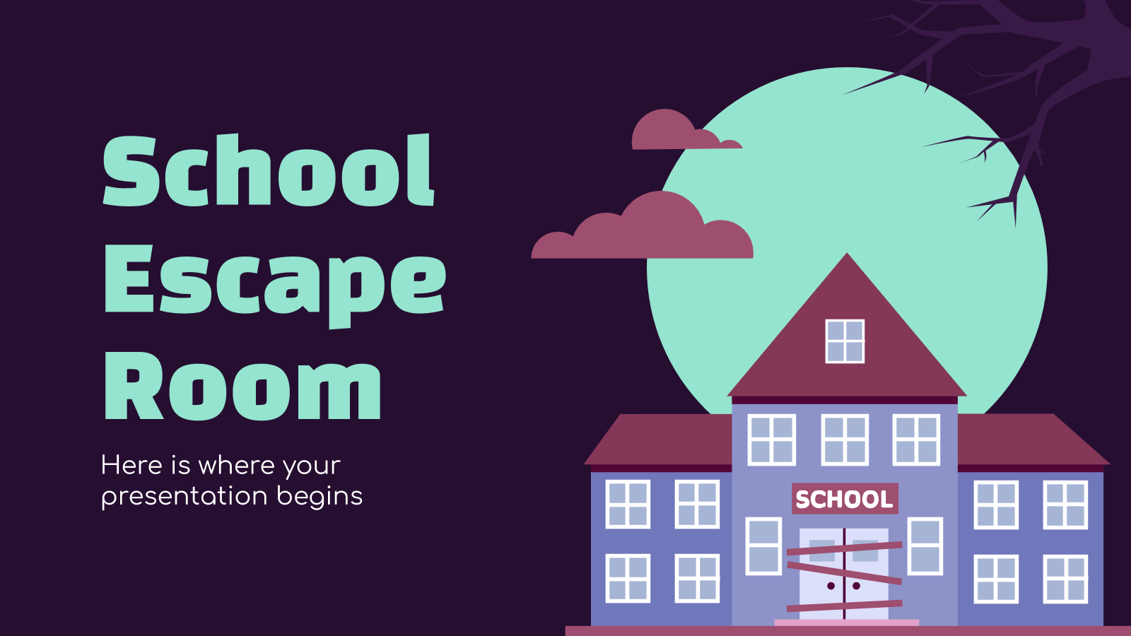 School Escape Room presentation template