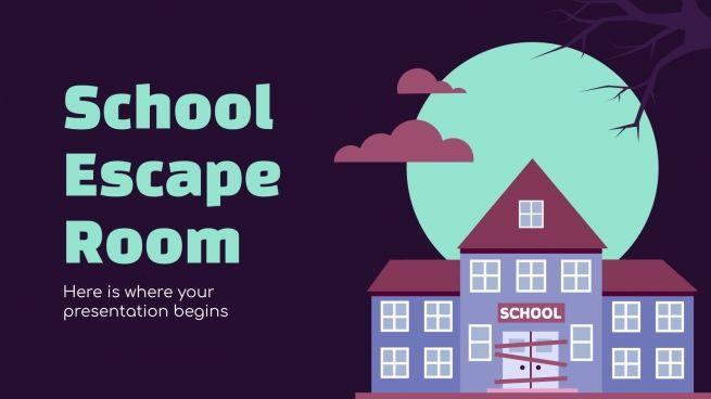 Plantilla de presentación Escape room en el instituto