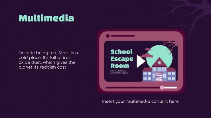 Escape room de l'école : Modèles de présentation