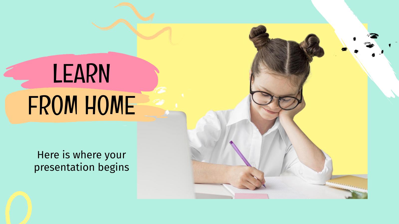 Plantilla de presentación Aprende desde casa