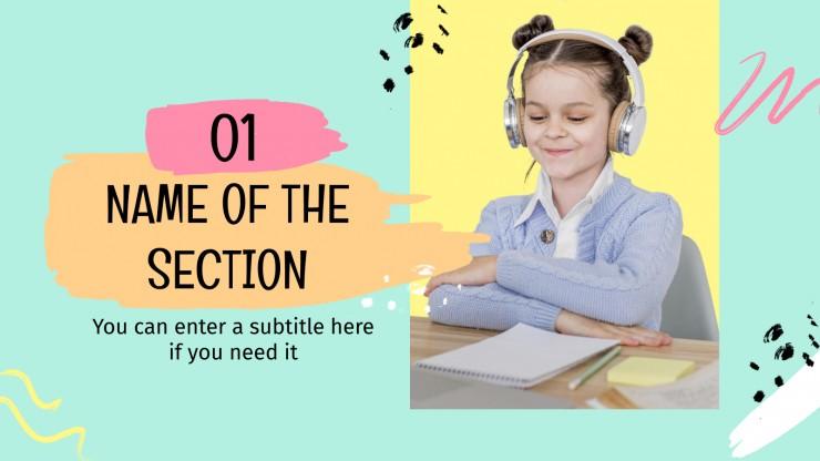 Apprendre à la maison : Modèles de présentation