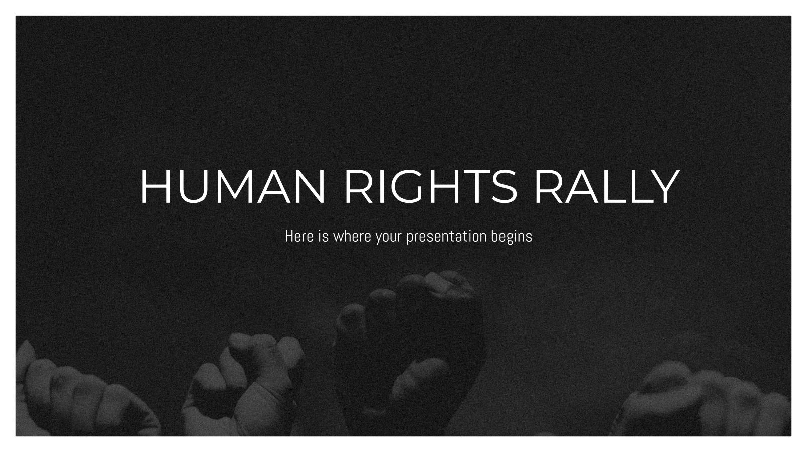 Modelo de apresentação Manifestação pelos direitos humanos